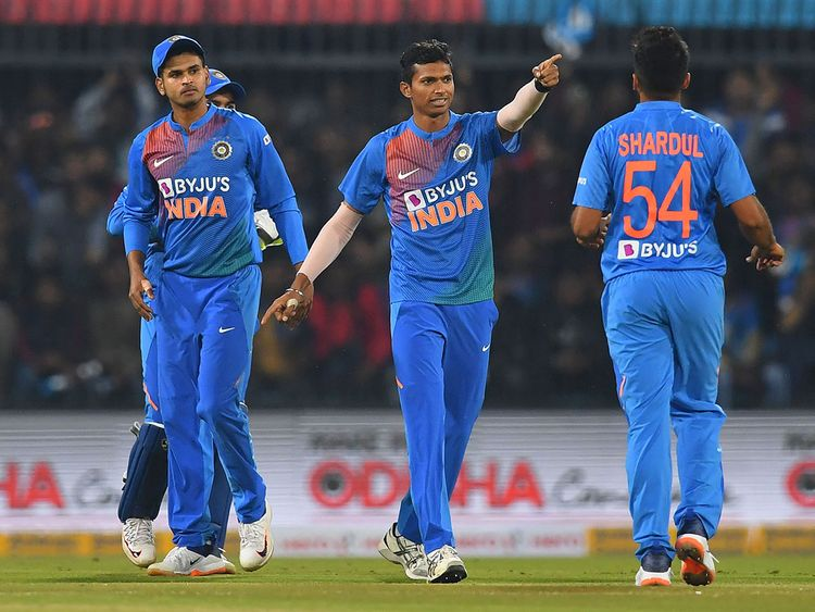 Shreyas Iyer, Navdeep Saini and Shardul Thakur | AFP