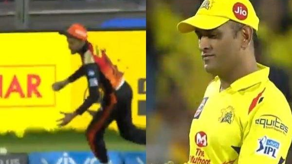 IPL 2018: Watch – MS Dhoni left bemused as Manish Pandey drops a sitter at long-on