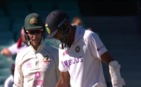 Ashwin gives it back to Paine after the latter sledged him | Screengrab
