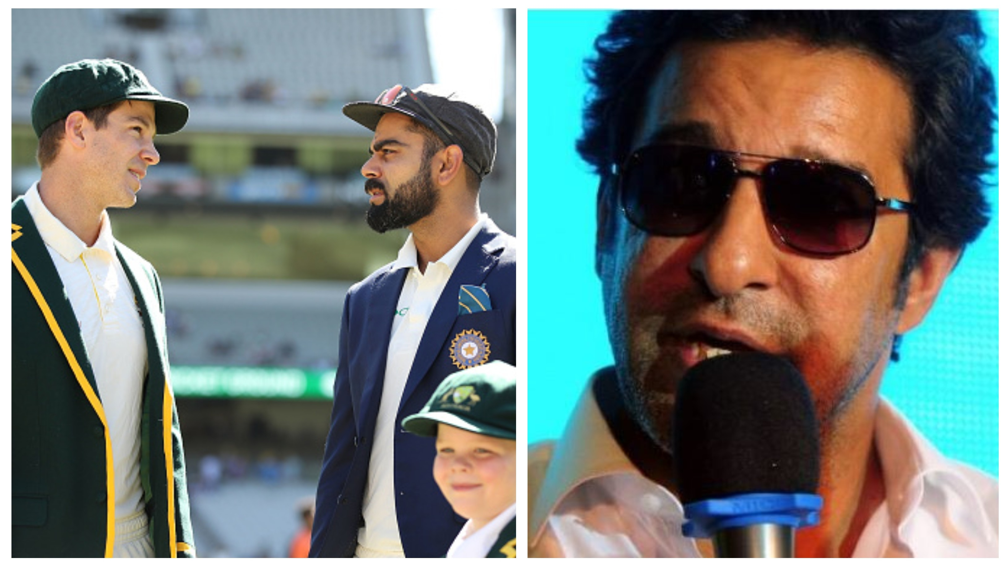 AUS v IND 2020-21: WATCH - Wasim Akram names his favourites for Australia-India Test series