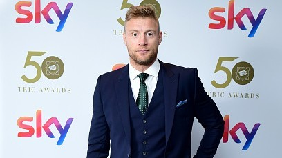 Andrew Flintoff unscathed after an accident involving a three-wheeled motorcycle
