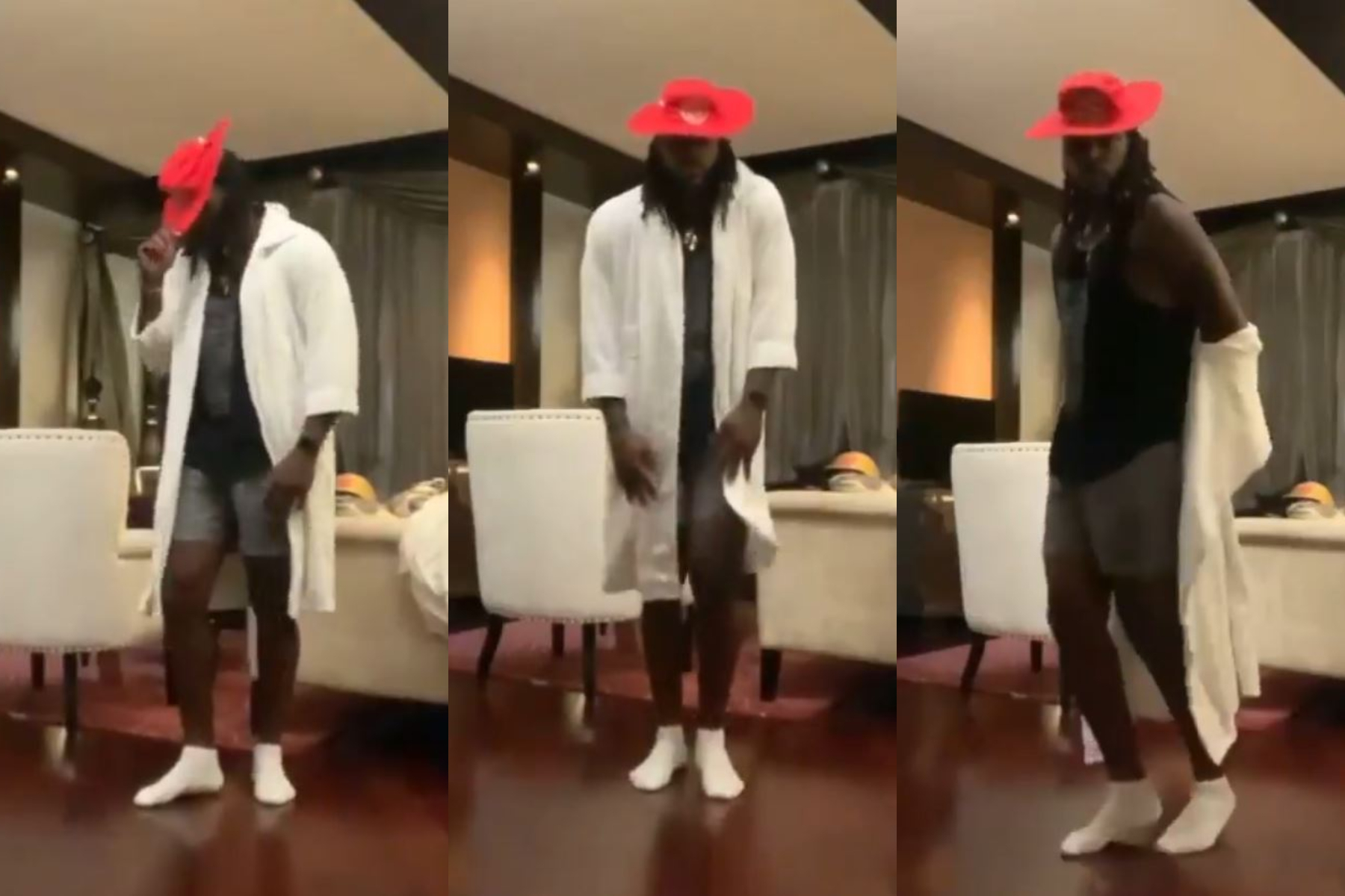 Chris Gayle danced to celebrate the end of his mandatory quarantine period | Twitter